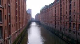 ハンブルクの観光名所の一つ、倉庫街
