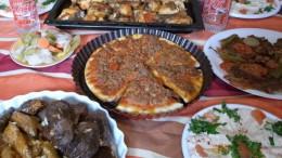 ご馳走になったシリアの家庭料理